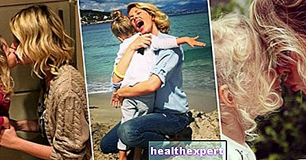 The Marcuzzi in the sweet mother version. The cutest photos of Alessia and little Mia! - Star